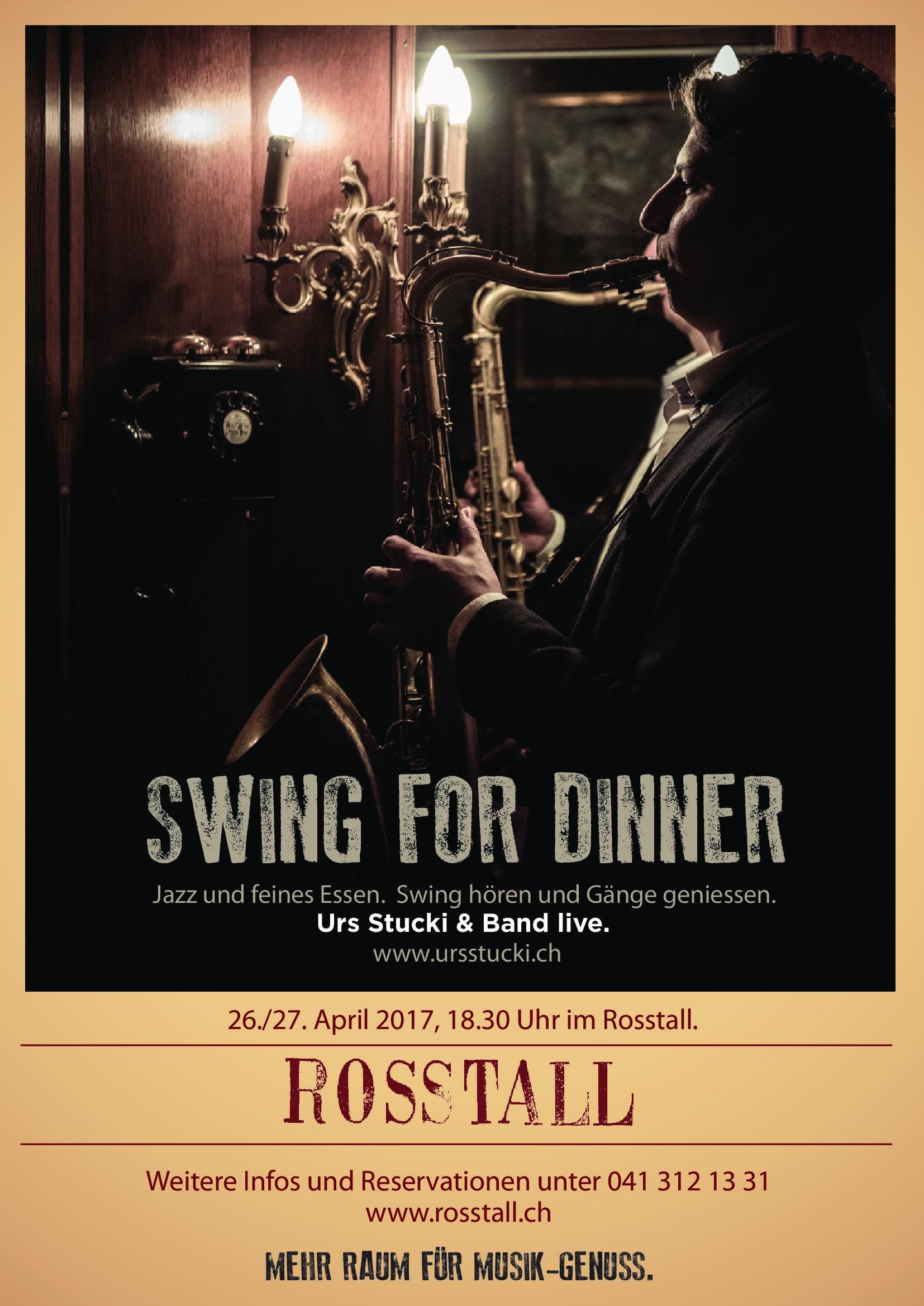 Flyer Swing For Dinner